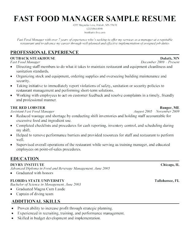 Mcdonalds Manager Resume Manager Resume Manager Resume Bunch Ideas Of Manager Resume Perfect Manager Re Job Resume Template First Job Resume Job Resume Samples
