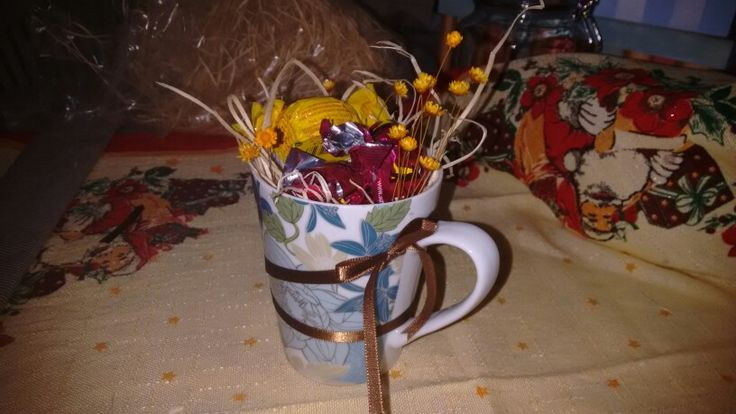 Rustic gift cup- With some chocolates inside