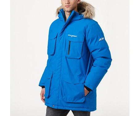 Dunjacka från Everest i herrstorlekar. Mer information om jackan - http://www.stadium.se/klader/herrklader/jackor/136840/everest-m-adv-dwn-parkaf12