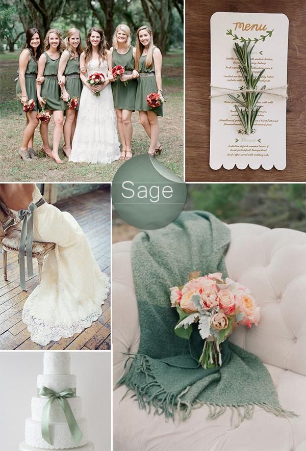 chic rustic sage green wedding color ideas                                                                                                                                                                                 More