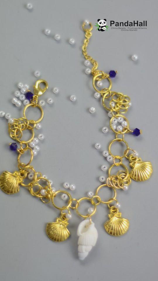 Vídeo do PandaHall: Faça um colar com anéis e conchas   – Schmuck