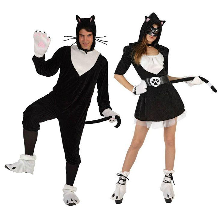 Pareja disfraces de gatos parejas disfraces carnaval - Disfraces el gato negro ...