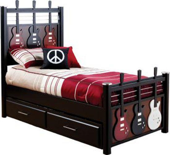 Kids Guitar Bed Crafts Furniture Pinterest Kid Children And Musicals