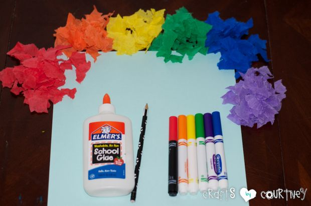 Tissue Paper Rainbow: Getting Started