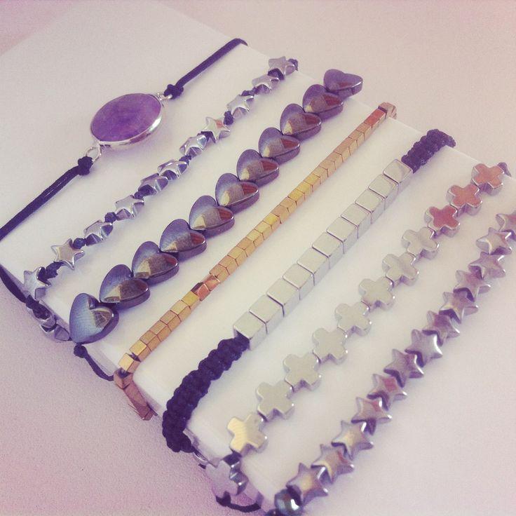 Hematite & Agate bracelets