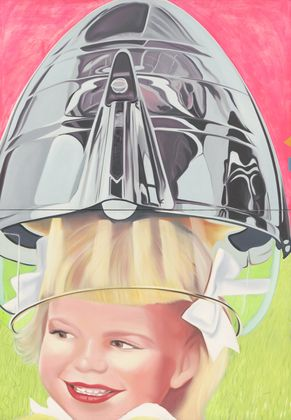 James Rosenquist. F-111 (detail). 1964–65. Oil on canvas with aluminum, 23 sections. 10 x 86' (304.8 x 2621.3 cm). Gift of Mr. and Mrs. Alex L. Hillman and Lillie P. Bliss Bequest (both by exchange). © 2011 James Rosenquist/Licensed by VAGA, New York