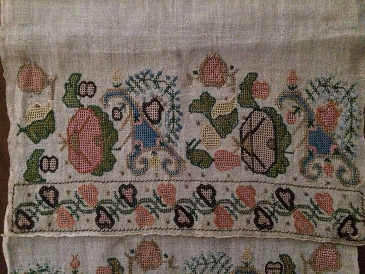 19th C Antique Ottoman Turkish Hand Embroidered on Linen Yaglik Geometric Motif | eBay