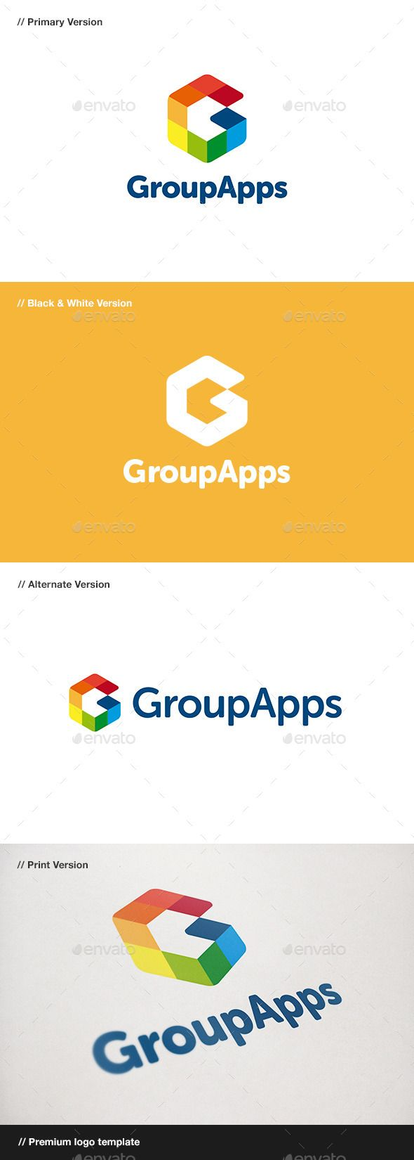 Group Apps Letter G - Logo Design Template Vector #logotype Download it here: http://graphicriver.net/item/group-apps-letter-g-logo/10934835?s_rank=809?ref=nesto