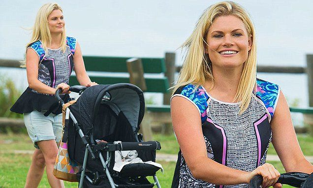 Home and Aways Bonnie Sveen looks like a natural mum