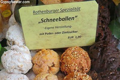 Schneeballen, or snowballs, a Rothenberg, Germany specialty