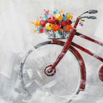 Schilderij 80x80 fiets