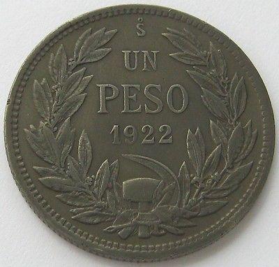 Чили, Серебряная монета 1 песо 1922, топ, высокого класса! in Монеты и банкноты, Монеты: страны мира, Южная Америка | eBay