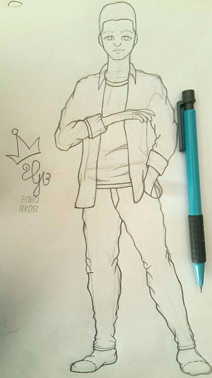 More than 1 year sketching and  the improvements are huge. #sketch #sketchbook #pencil #b0b0nkosi #bobonkosi #sketch #fullbody #pencil #pose