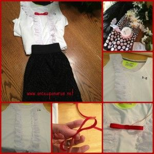 making the outfit for Mary Poppins