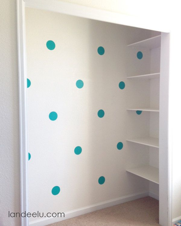 Polka+Dot+Wall+DecalsSET+OF+50+3+and+4+inches+in+by+LandeeOnEtsy,+$30.00
