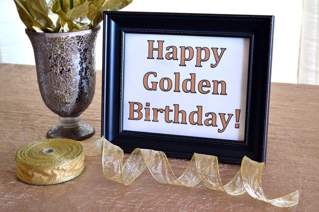 Ideas for a Golden Birthday Party
