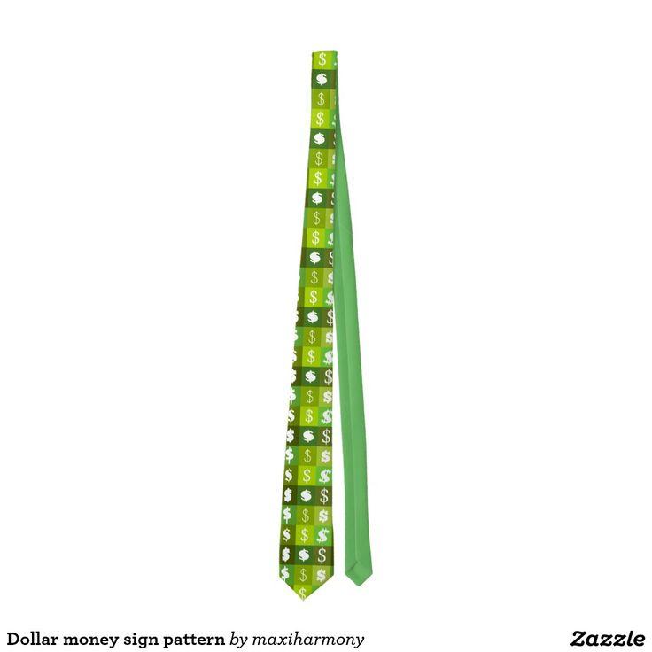 Dollar money sign pattern tie