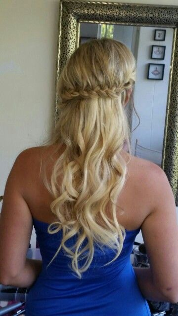 Long waves wedding hair
