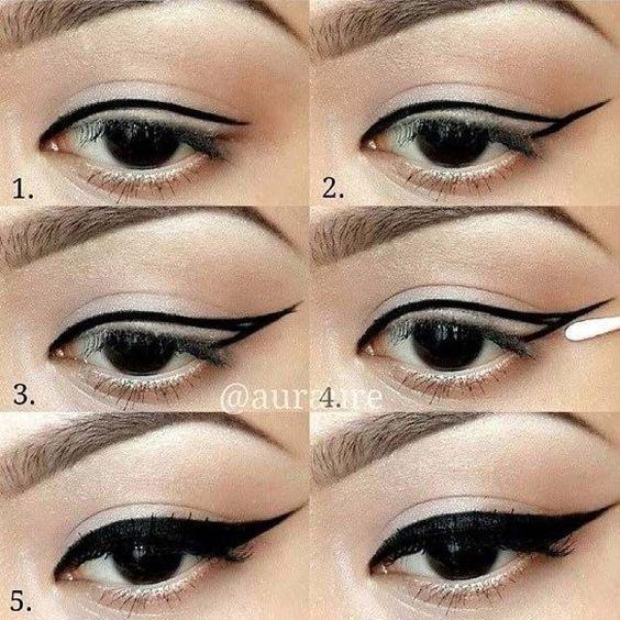 winged #eyeliner - #ezyshine #makeup tips