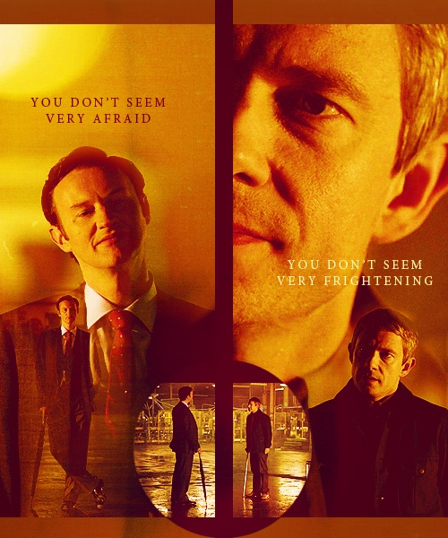 Sassy // I will never get over Mycroft 'testing' John to make sure he was a good man and not going to sell out his little brother, even though they'd not spoken in quite some time.  Holmes boys:')