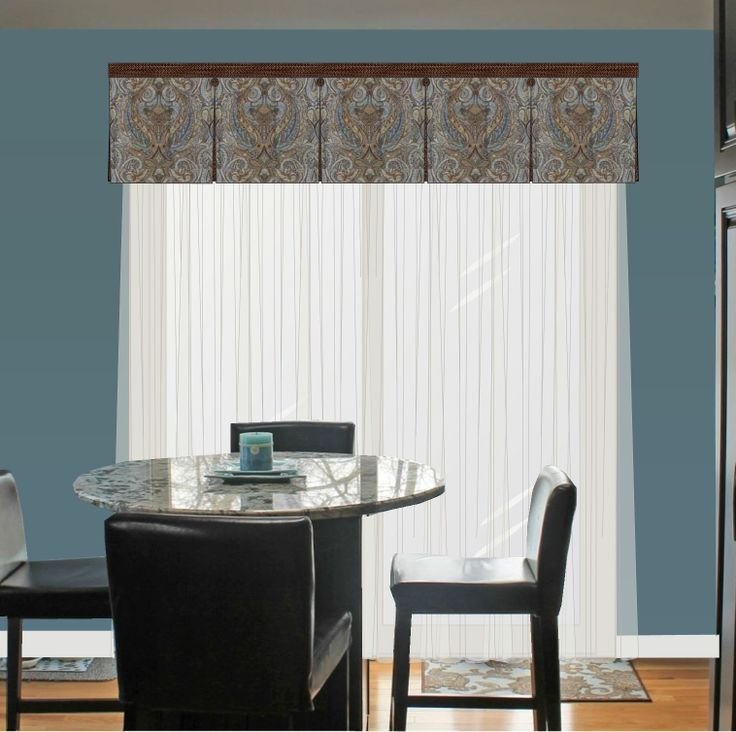 Box pleated valance over sheers more pleated valance design on a photo