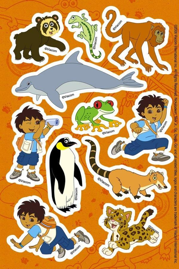 Go, Diego, Go! Sticker Sheets from