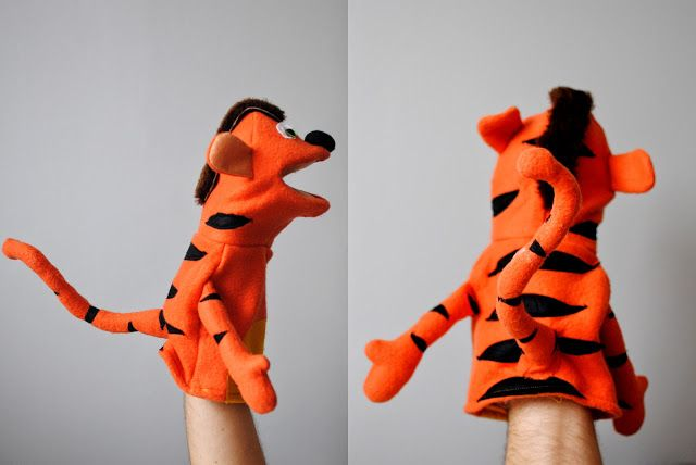 Pacynka tygrysa. Tiger puppet.
