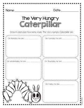 "The Very Hungry Caterpillar - Drawing ActivityEasy activity to help your students' creativity after reading Eric Carle's books. ***Looking for more BOOKS Companion Activities?*** Favorite Authors - Activities BUNDLE Hope you enjoy!***************************************************************************You might also like:""No, David!"" 3 Activities ""No, David!"" Color by Number ""No, David!"