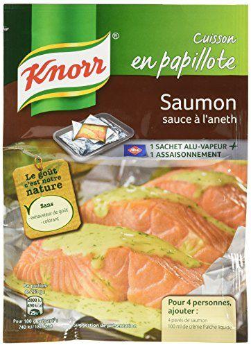 Knorr Sachet Cuisson Saumon Sauce à L'Aneth 28g – Lot de 3: Sans colorant, sans exhausteur de goût. Cuisson en papillote. Pour cuisiner…