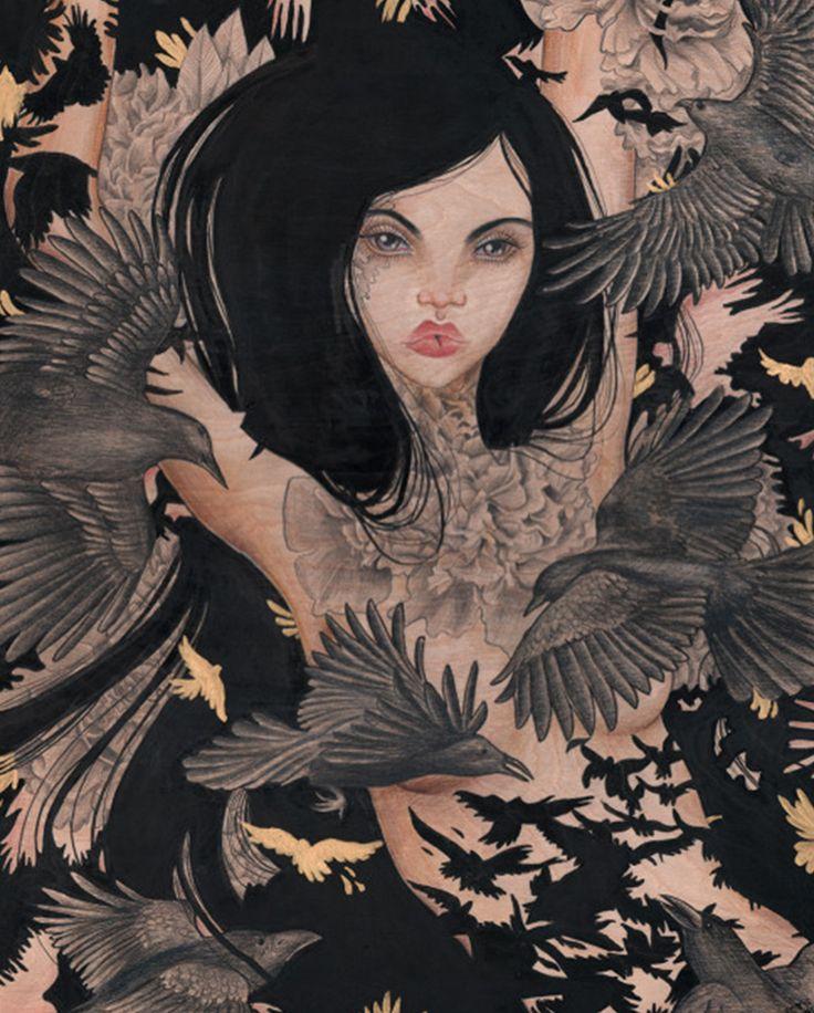 """Wings – Raven"" © Vic Hollins"