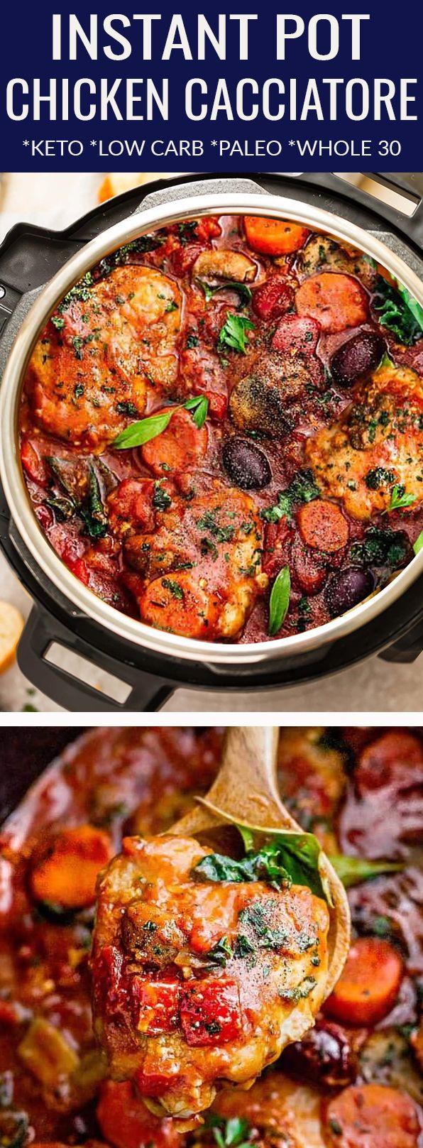 Instant Pot Chicken Cacciatore – ein einfaches Schnellkochtopfgericht mit Tomat …