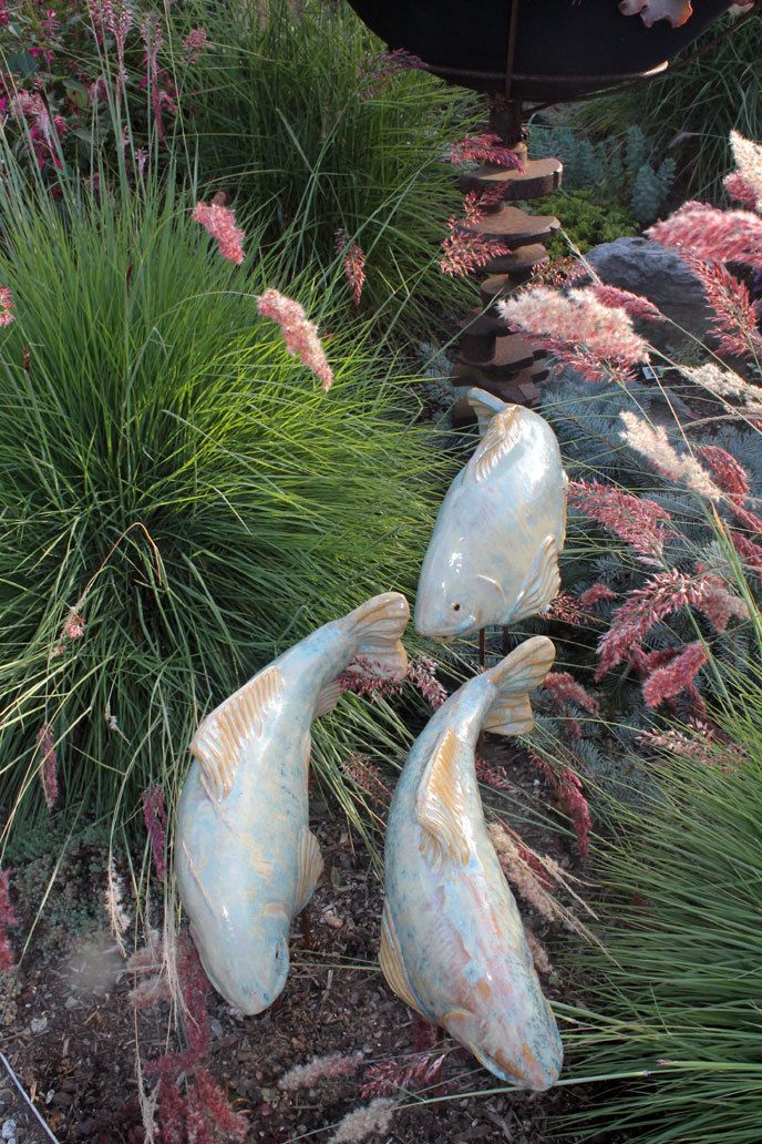 Asian Garden Art Part - 25: Fish In The Garden LLC - Crystalline Koi Garden Art, These Would Look Great  With The Mosaic - Like They Had Escaped :)
