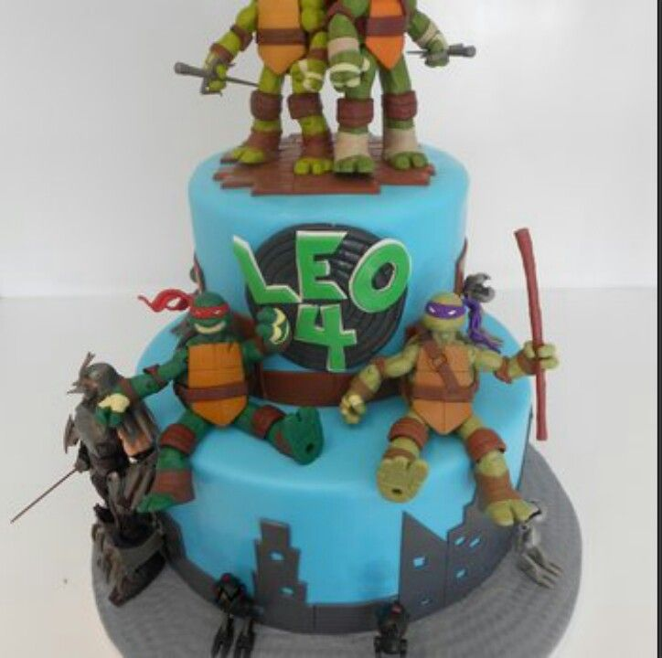 Ninga turtles birthday cake