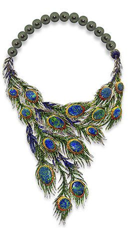 Peacock necklace by Alessio Boschi 2 June 2014 Couture jewety