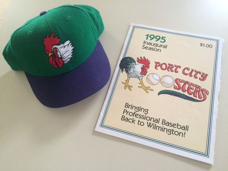 port city roosters minor league baseball cap mint program vintage hats