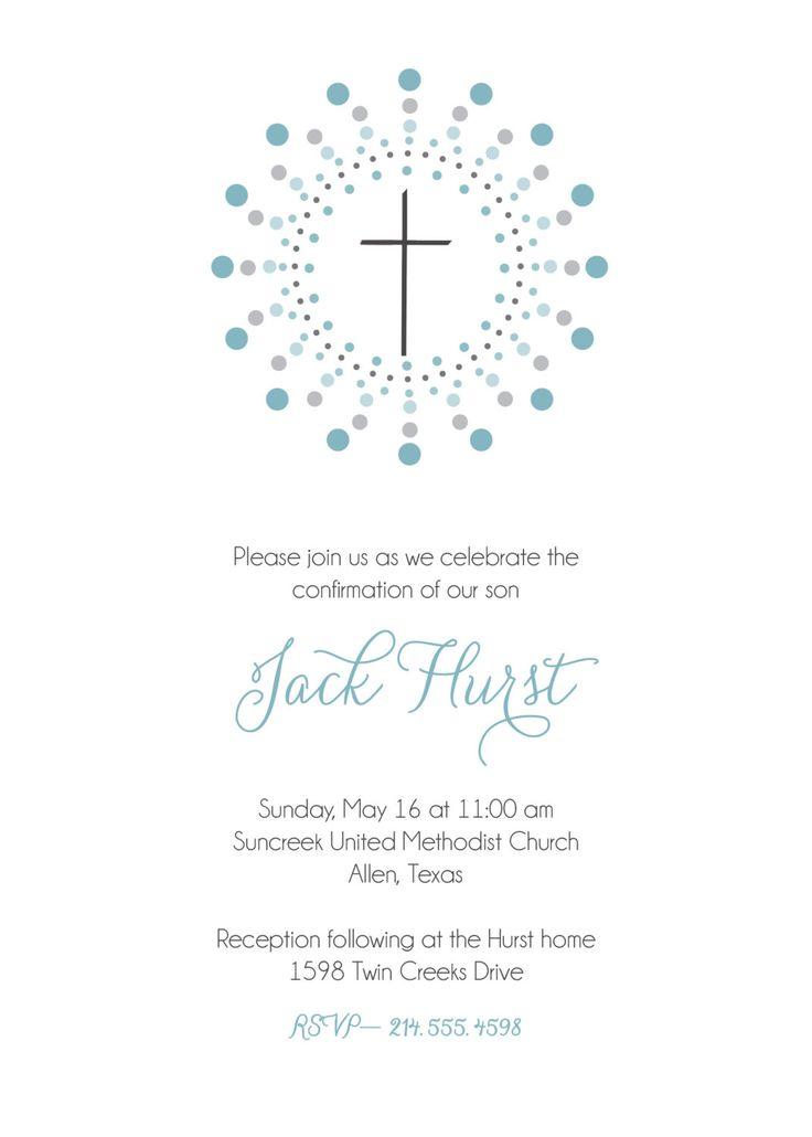 Confirmation invitation. First Communion invitation, Baptism invitation. Christening announcement. boy or girl. $15.00, via Etsy.