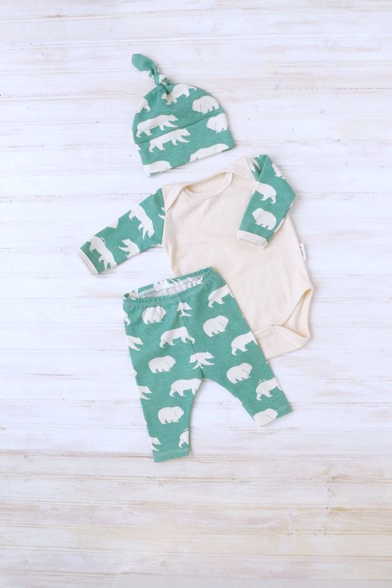 Organic Going Home Outfit  Baby Take Home Outfit  by ZaaBerry
