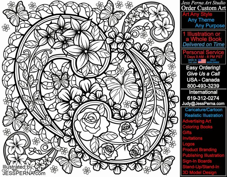 Paisley Design Coloring Pages S Page Book Ilration The Fl
