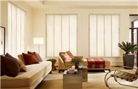 Cortinas: Paneles Orientales para Living - Estética ZEN - Paneles que se deslizan lateralmente / Living room blinds curtains windows covering decoración ventanas salón sala oriental