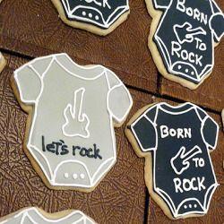 Rock n' Roll Baby Onesie Cookies