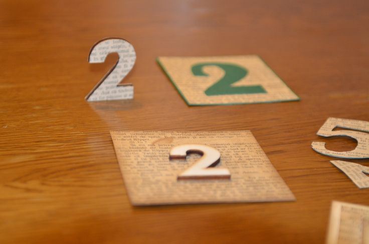 Table numbers for booklovers