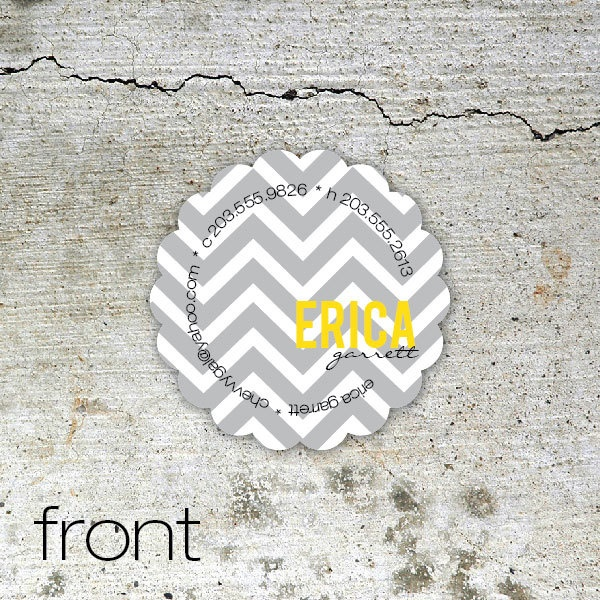 Chevron Stripe Dream - custom contact / calling cards for moms, blogs and businesses.