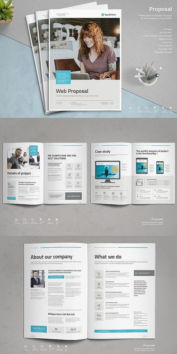 Web Proposal Template #proposal #brochure #template #indesign