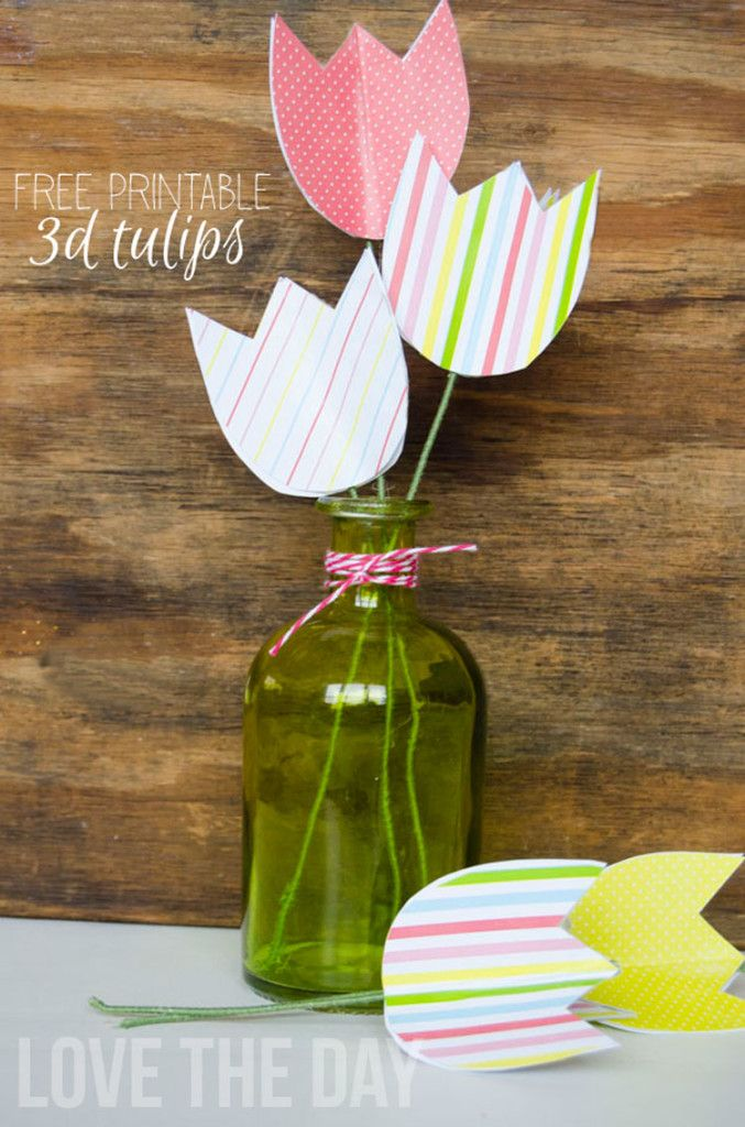 FREE Spring Printable Tulips and Tutorial by Love The Day