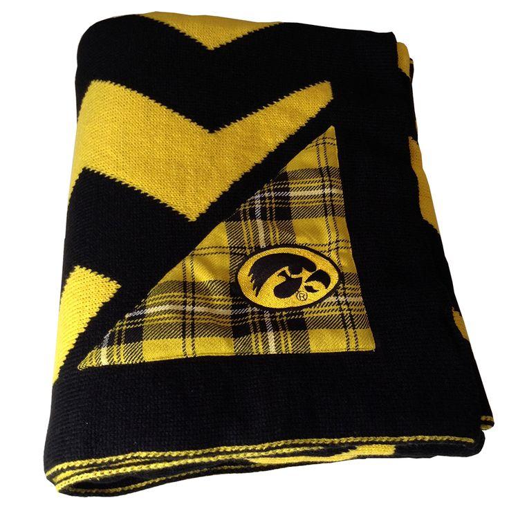 Iowa Hawkeyes Chevron Knit Throw - The Honour Society