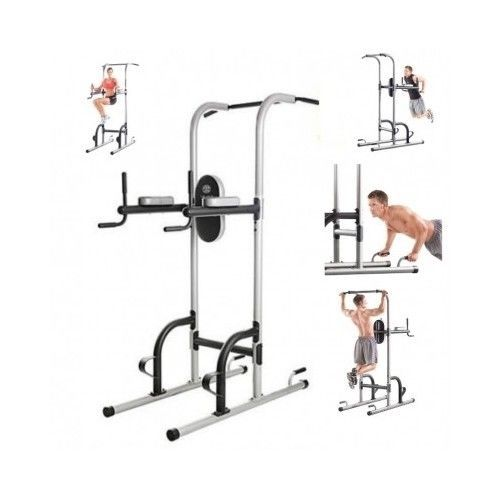 Pull-Up-Tower-Home-Gym-Body-Workout-Fitness-Dip-Station-Power-Machine-Stand-Bar