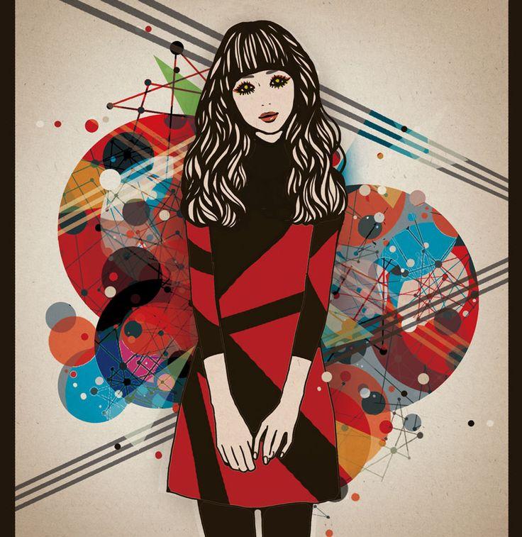 女性,イラスト,illustration,woman,art,drawing