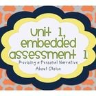 • This product includes the following: o PDF file with the steps of finishing the first embedded assessment (7th Grade ELA – Springboard – Unit 1, ...