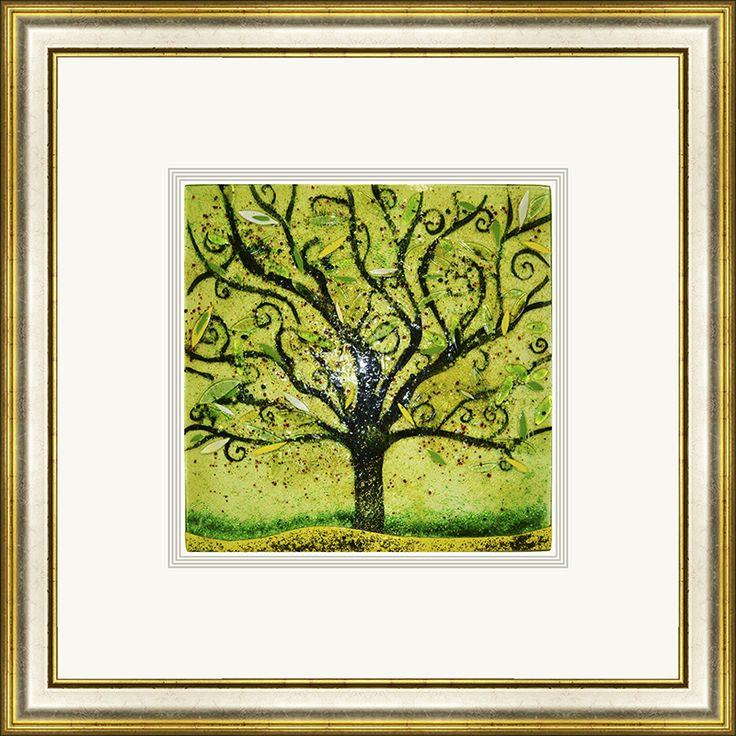 'Spring' by Edel Taggart. This piece has been hand crafted, fused & framed by Spires Art in Omagh. This piece is available in a variety of sizes.
