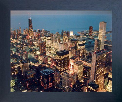 Chicago Skyline Nightscape City Wall Decor Espresso Framed Picture Art Print (20x24) Impact Posters Gallery http://www.amazon.com/dp/B00H72MSXQ/ref=cm_sw_r_pi_dp_IXDVwb1D3DBK2
